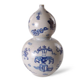 EIGHT TREASURES DOUBLE GOURD VASE