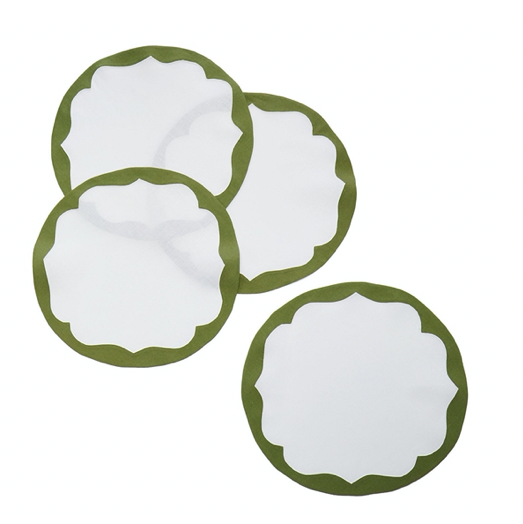 Round Scallop Placemat (Set of 12)