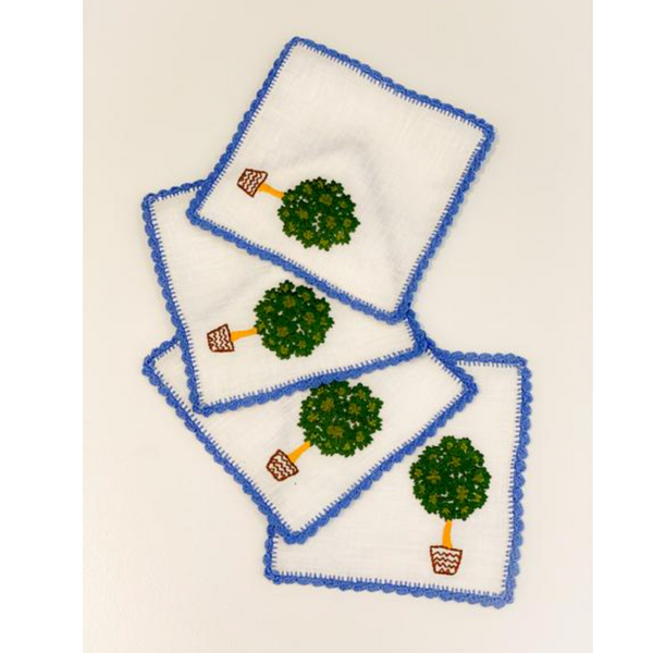 Cocktail Napkins ~ Topiary in Brown Pot (Set of 4)