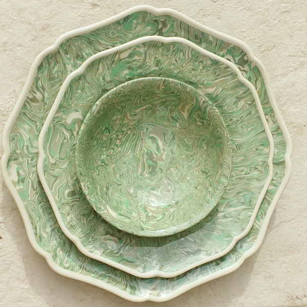 Light Green Aptware Dinner Plates 2