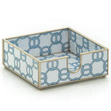 Glass Cocktail Napkin Holder (Blue or Brown)