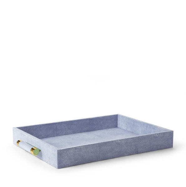 Shagreen Rectangular Tray (Blue or Brown)