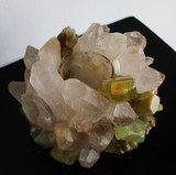 McCoy Design Celadon Calcite/ Clear Quartz Votive