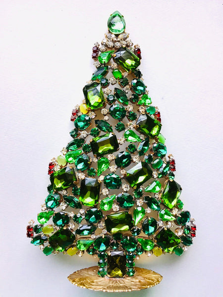 CZECH RHINESTONE CHRISTMAS TREE