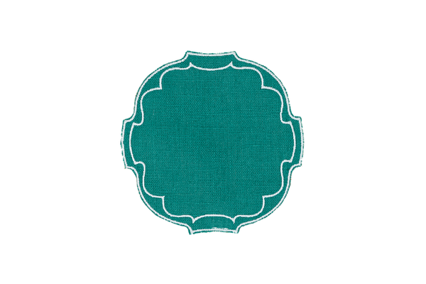 OVAL COASTERS SET OF 6 (MORE COLORS!)