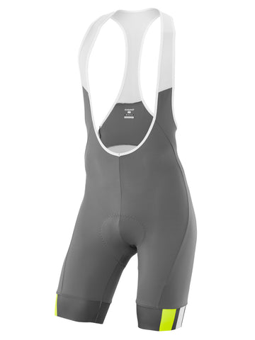 SC Bib Shorts Grey-Yellow