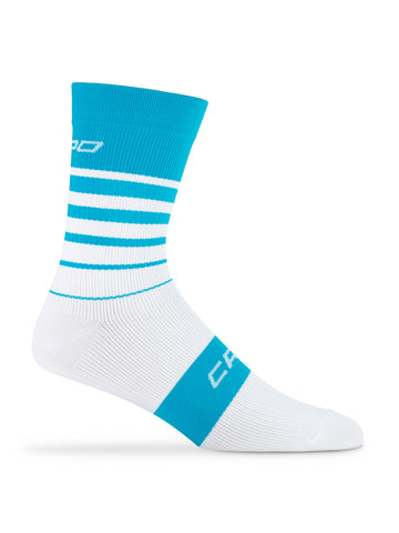 Active Compression Avanti Sock Cyan-White