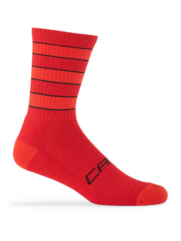 Euro Winter Wool 15cm Sock Red Stripe