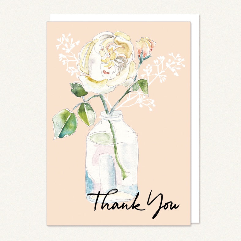 Thank You - Rose in Jar