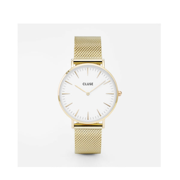 Watch La Boheme Mesh gold/white
