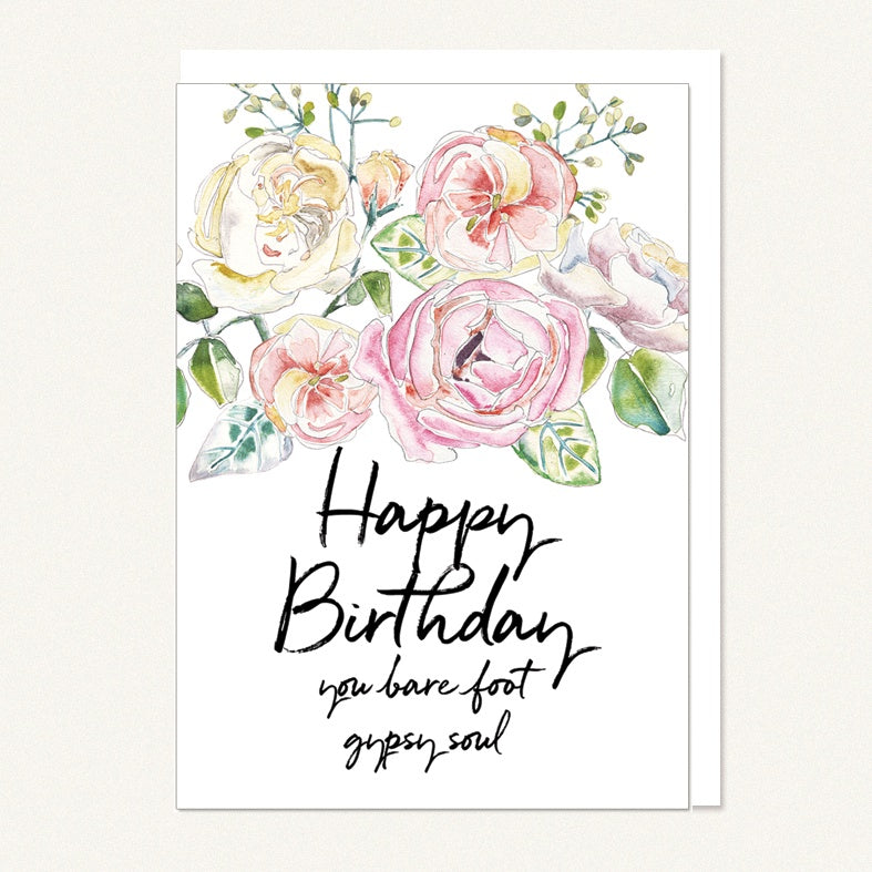 card happy birthday - barefoot gypsy soul