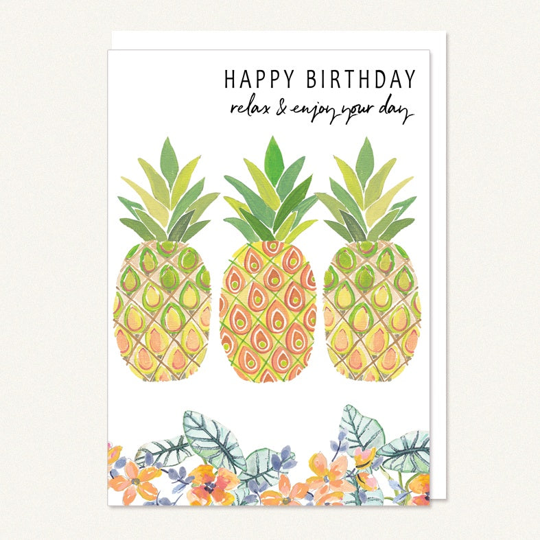 card happy birthday pineapples