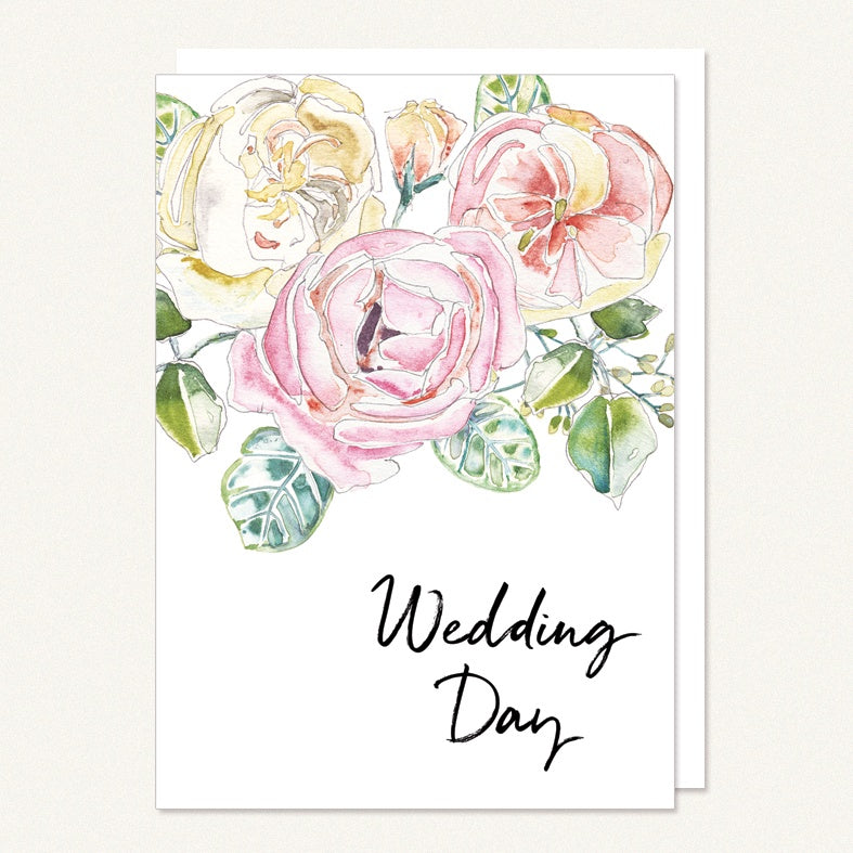 wedding day roses