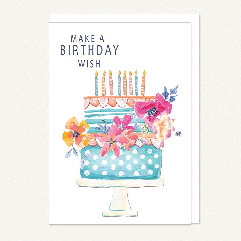 card happy birthday cake
