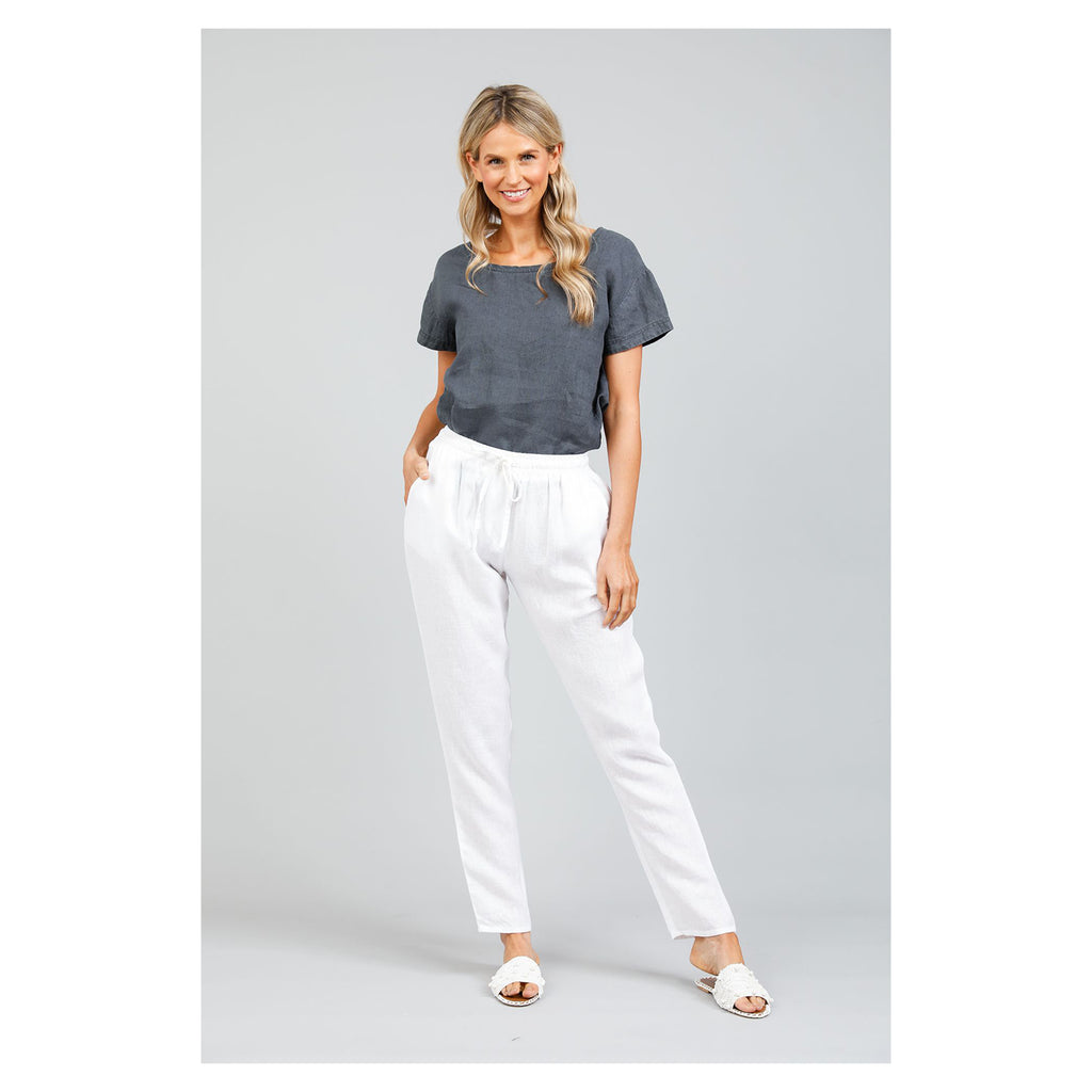 Pants Captain White Linen