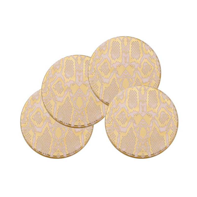 Coaster Set/4 Safari Snakeskin