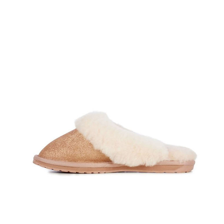 Slipper Jolie metallic rose gold