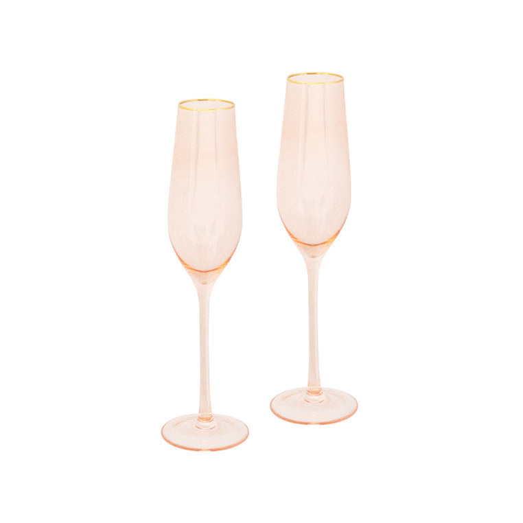 rose gold champagne glasses