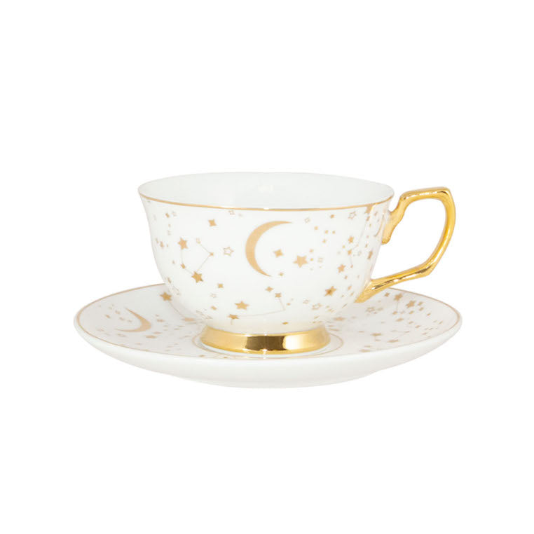 galaxy stars teacup and saucer