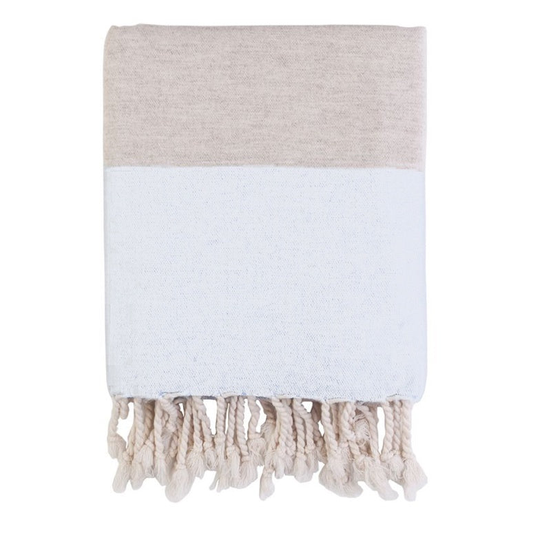 Sunday Linen Throw/Towel - White