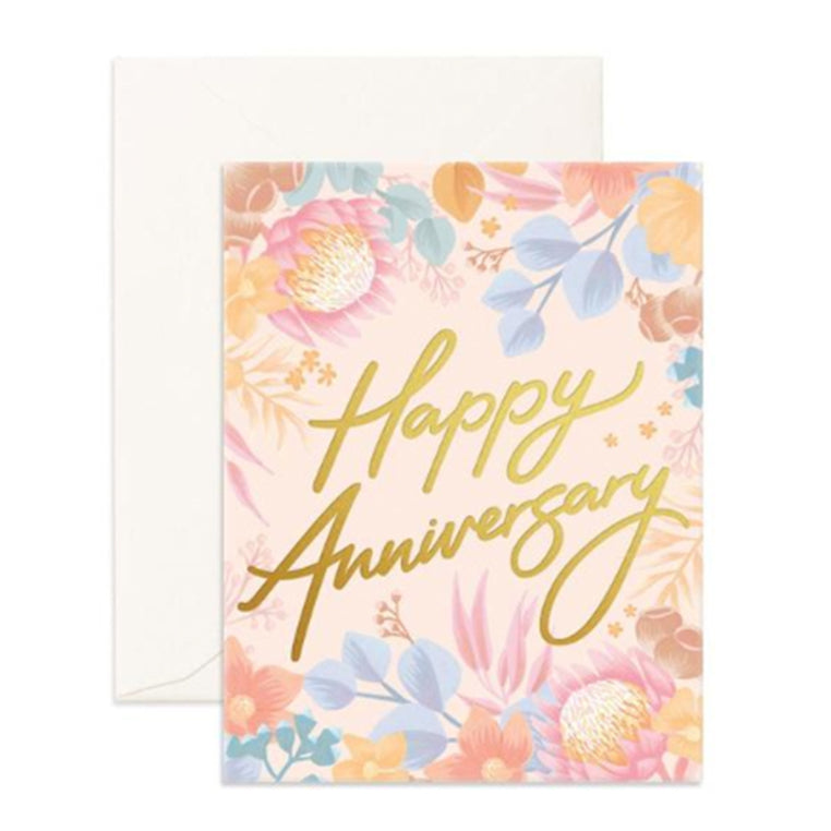 Card Happy Anniversary Floribunda