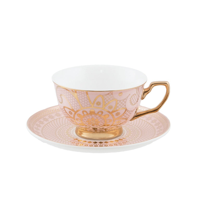 Georgia Lace Blush Teacup & Saucer
