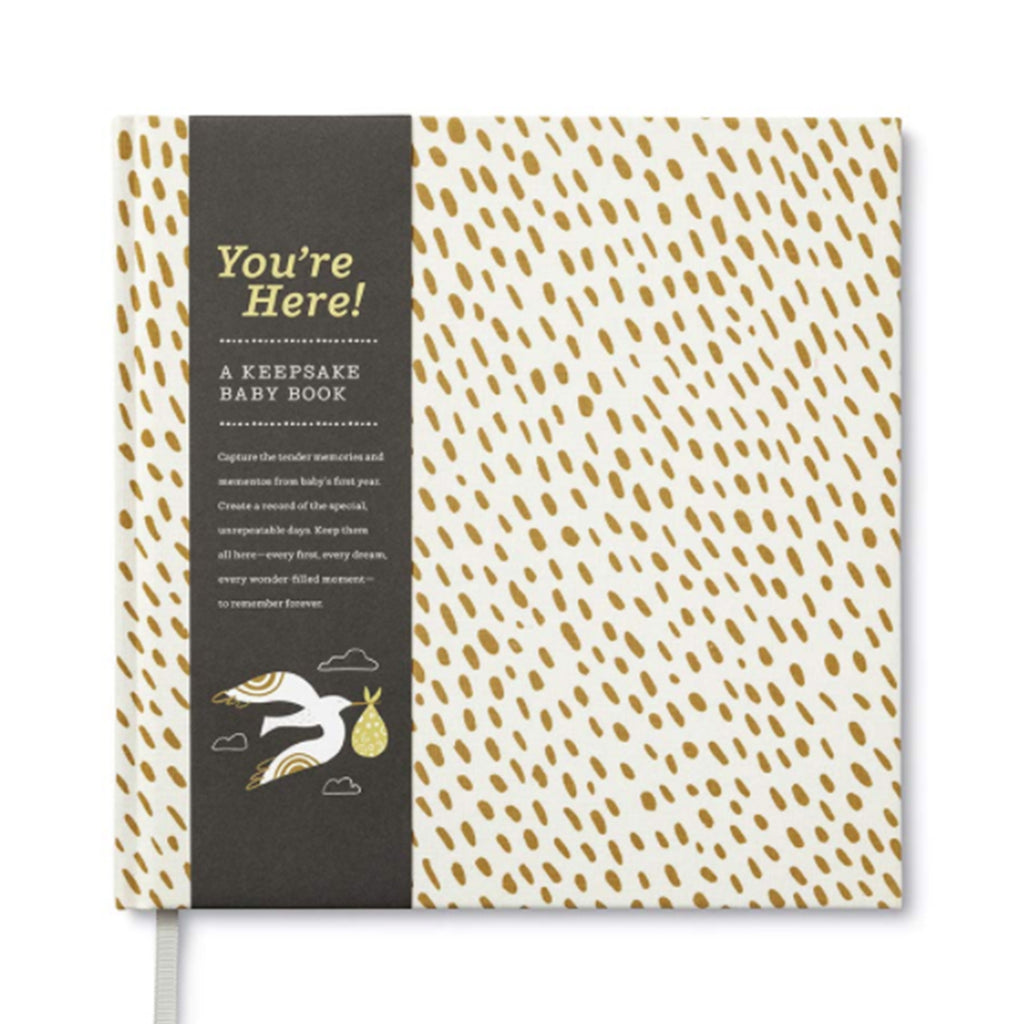 You're Here! - Keepsake Baby Book