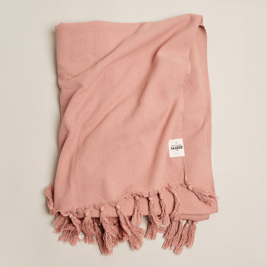 Vintage Wash Luxe Beach Towel - Guava