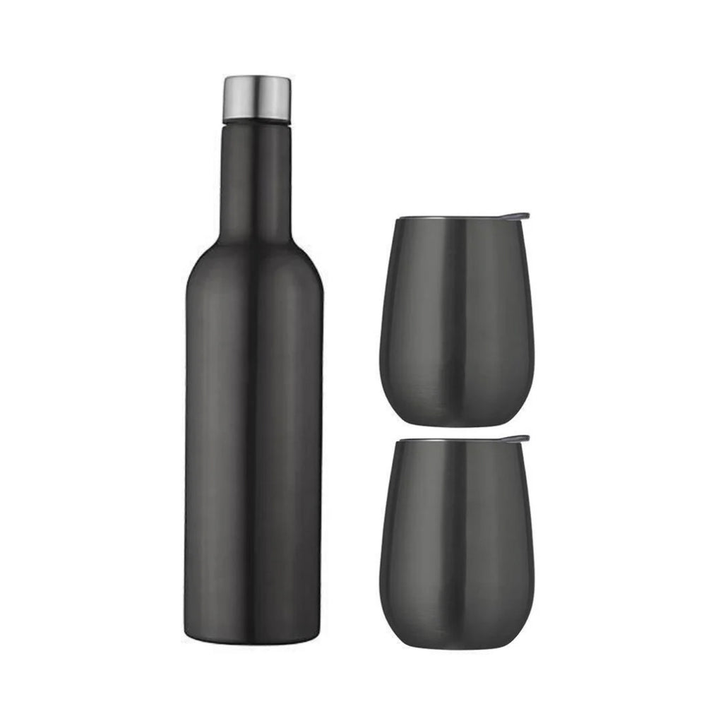 Wine Traveller 3 Set Black