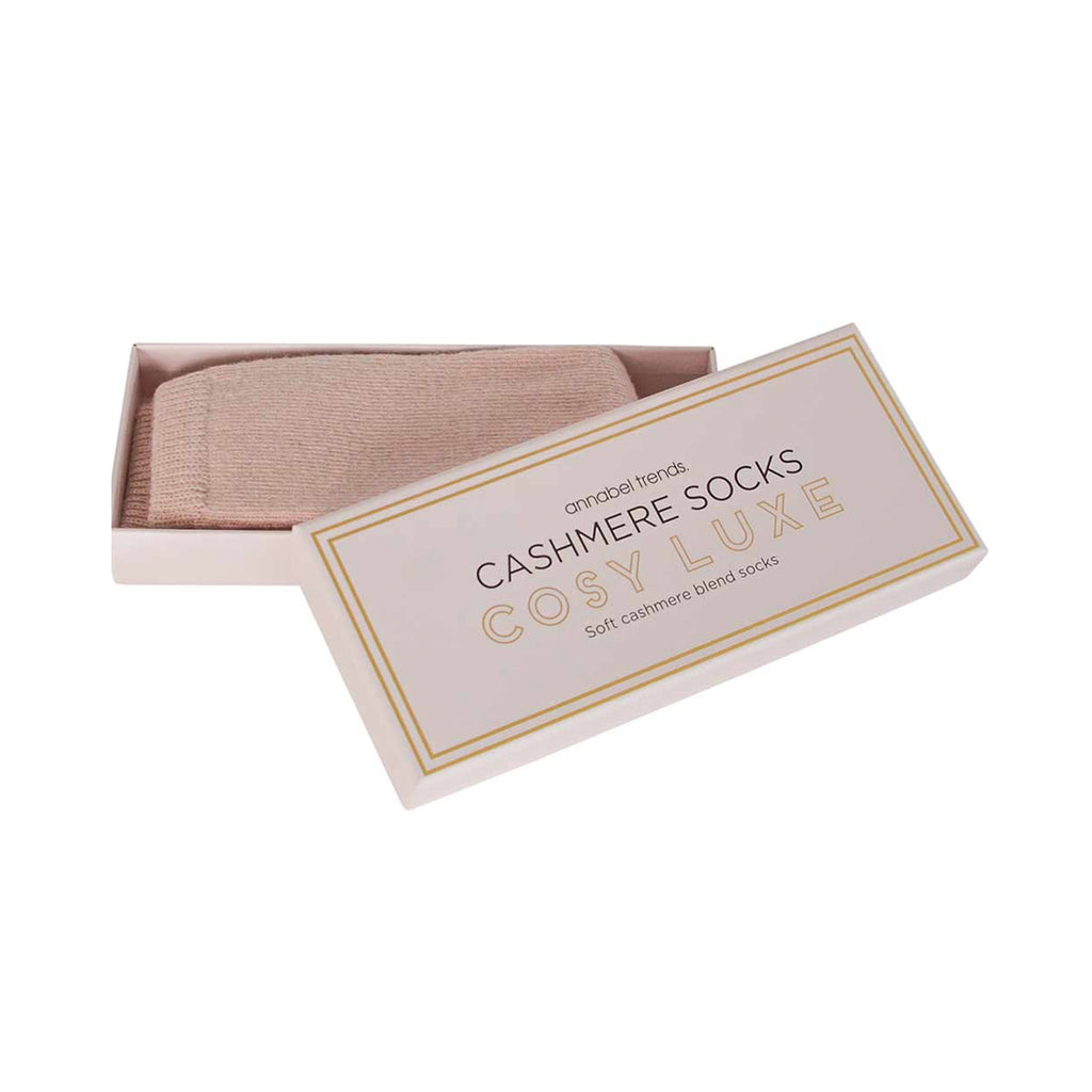 Boxed Socks Cosy Luxe Cashmere - Pink