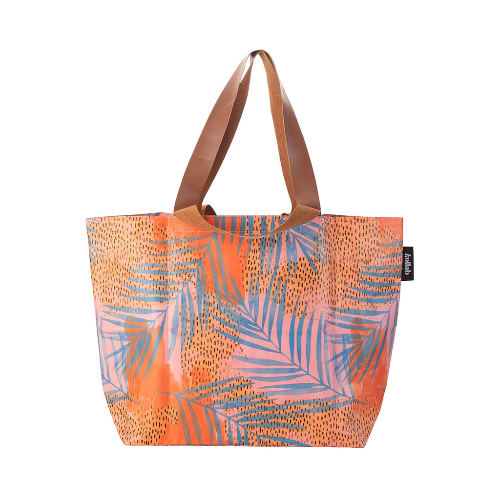 Shopper Tote Blue Palm