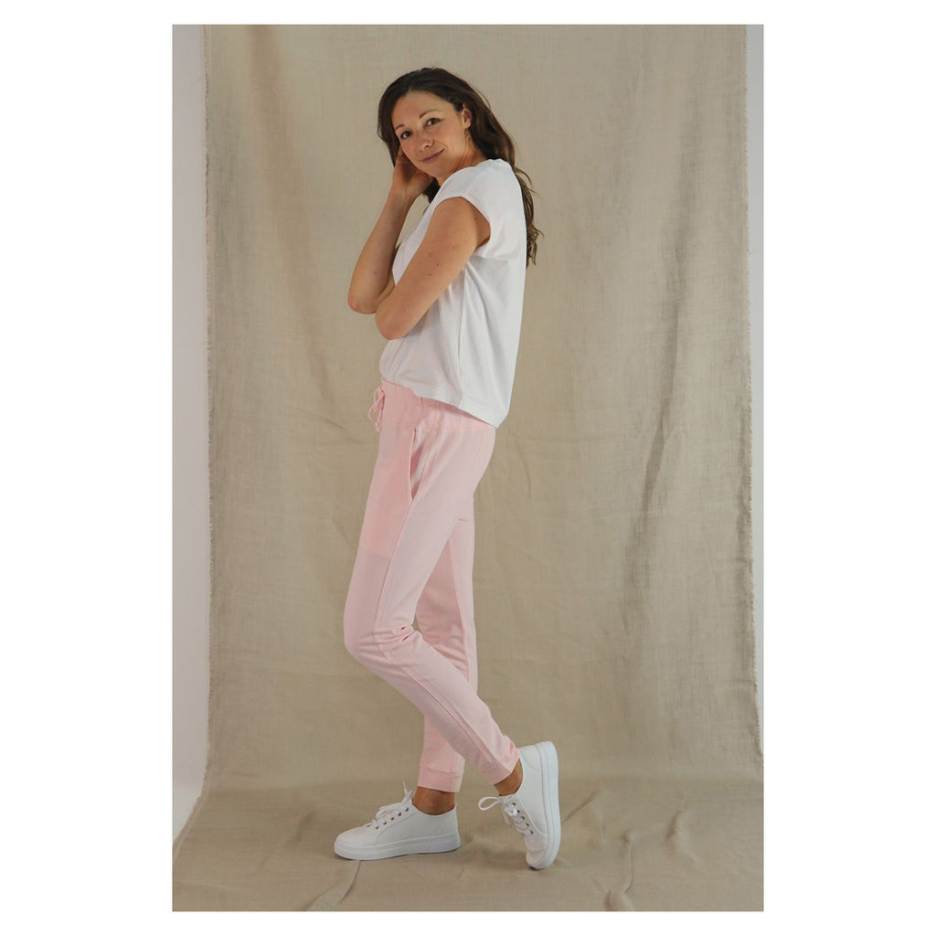 Pant Drop Crotch French Terry - Light pink