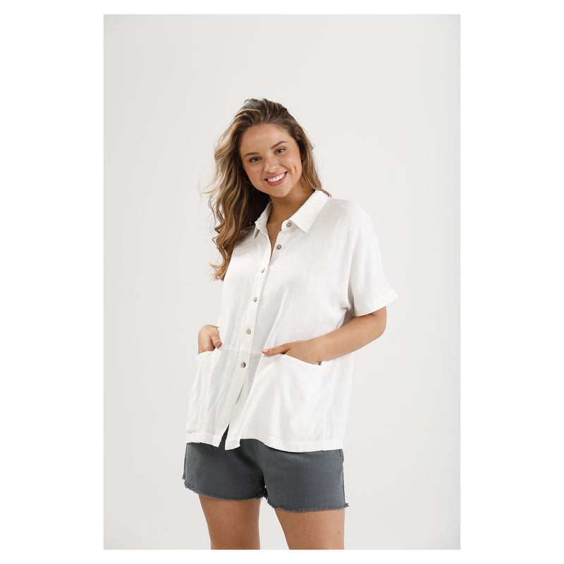 Shirt Fancy Free - White Linen