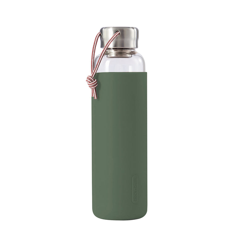 Water Bottle Glass - Olive