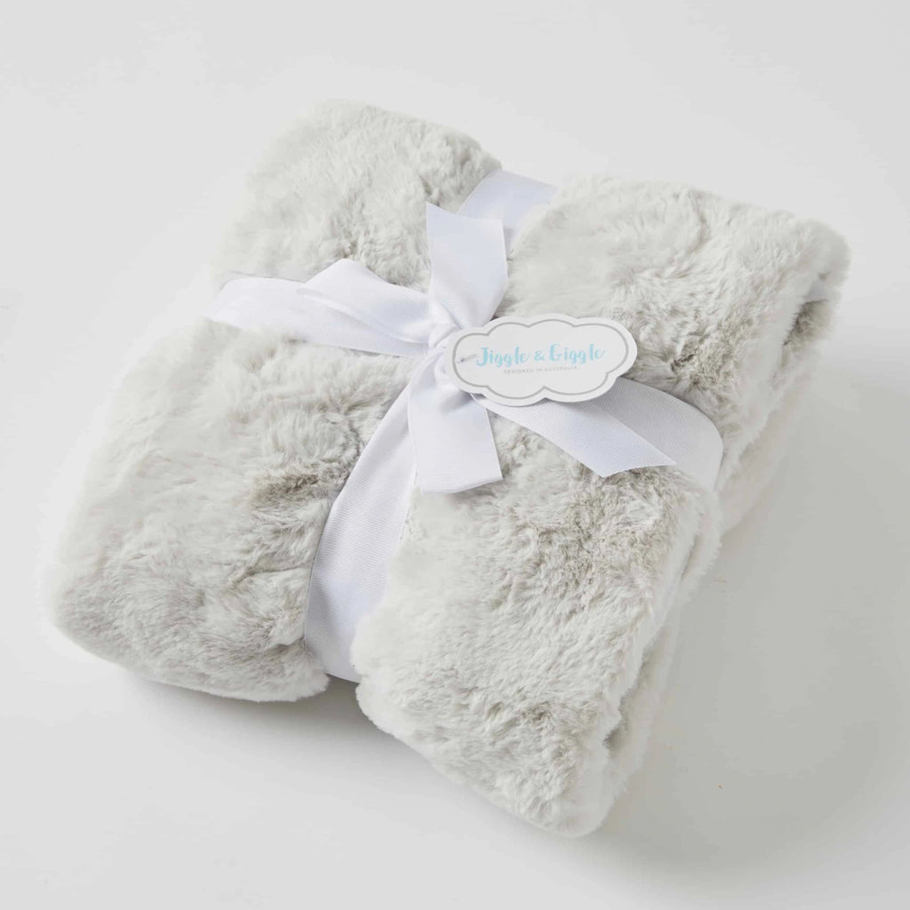 Baby Blanket - Grey Fur