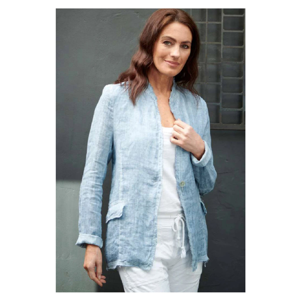 Jacket Cosmo Linen - Blue
