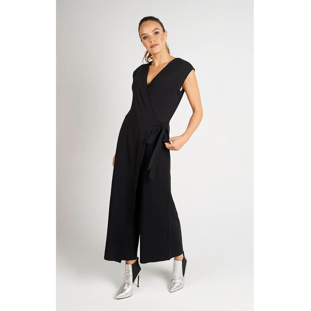 Jumpsuit Cross Front Black
