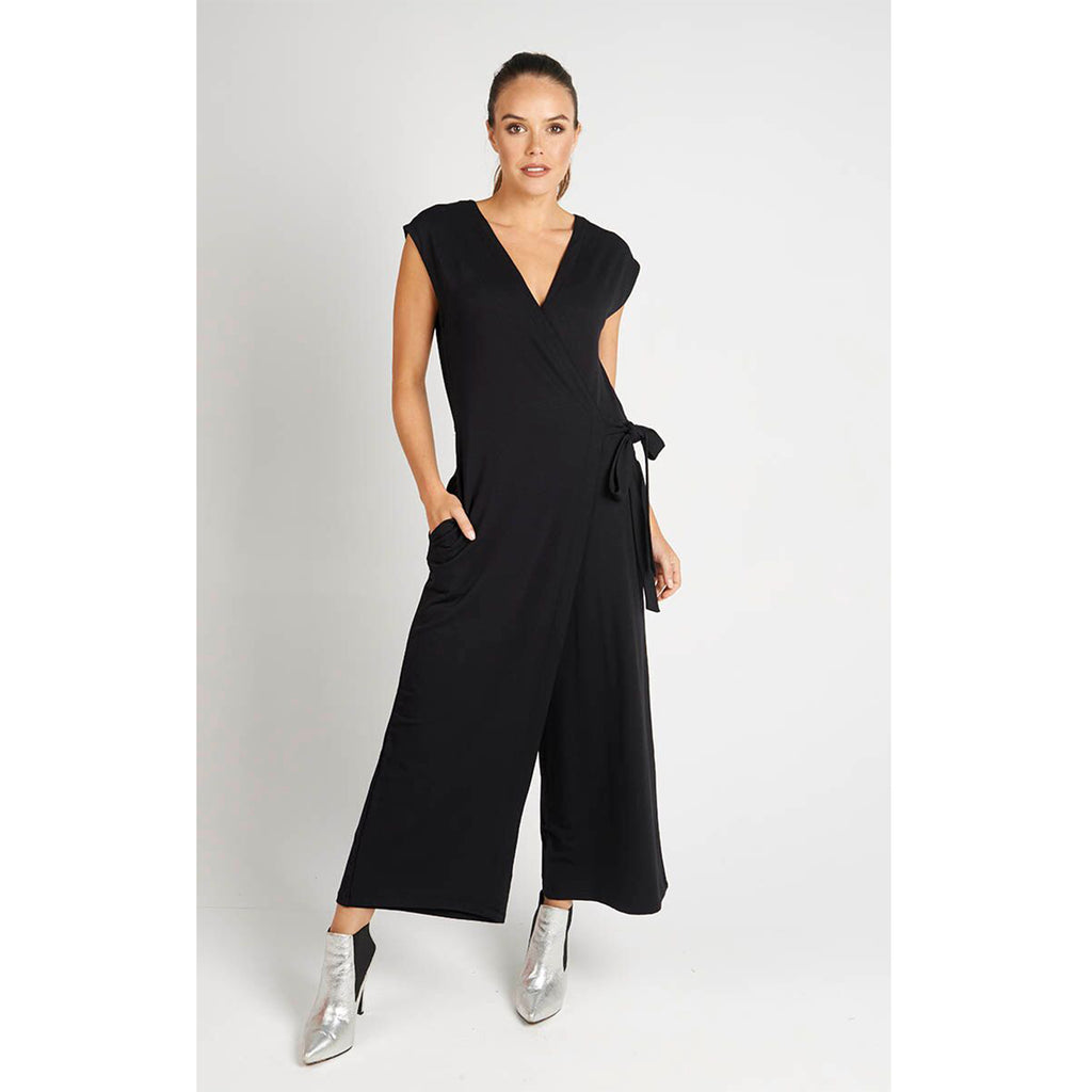 Jumpsuit Black Cross Front