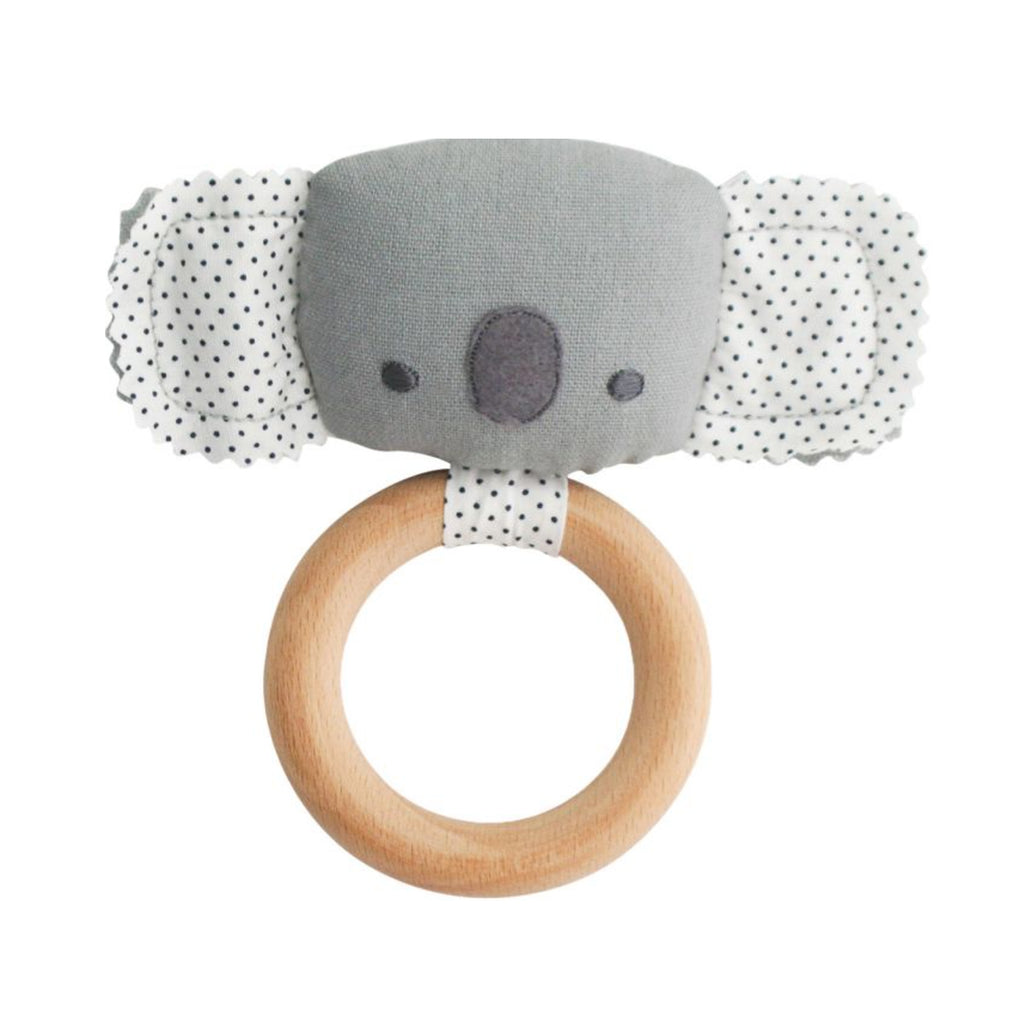 Baby Koala Teether Rattle - Grey
