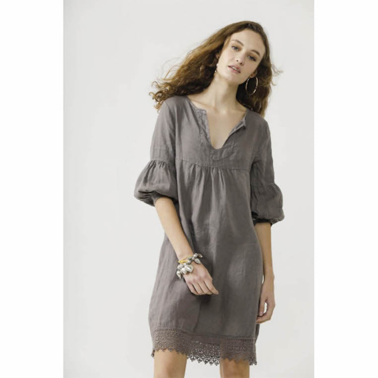 Dress Larissa Linen Grey