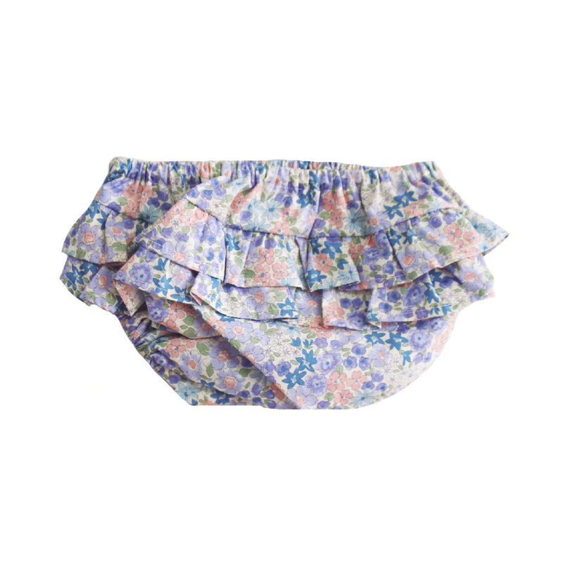 Nappy Cover Ruffle Liberty Blue - Small