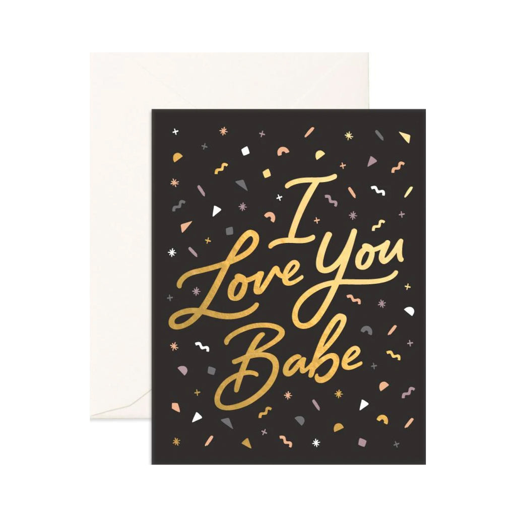Card Love You Babe Confetti