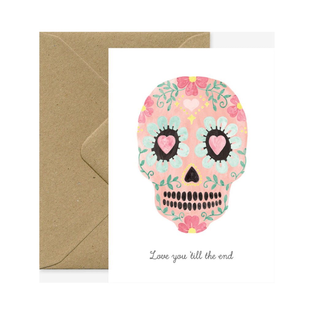 Card Love You Skull