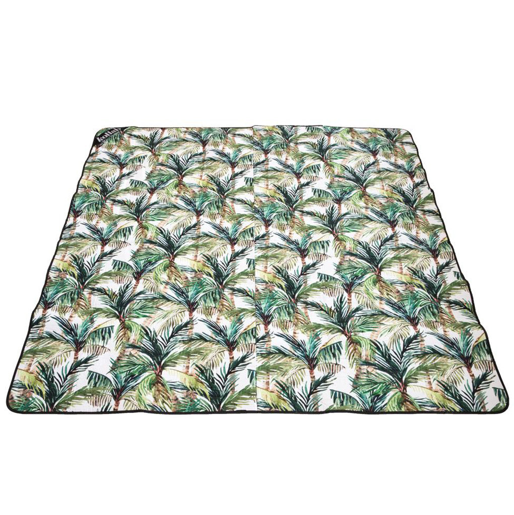 Picnic Mat Green palm 2x2m