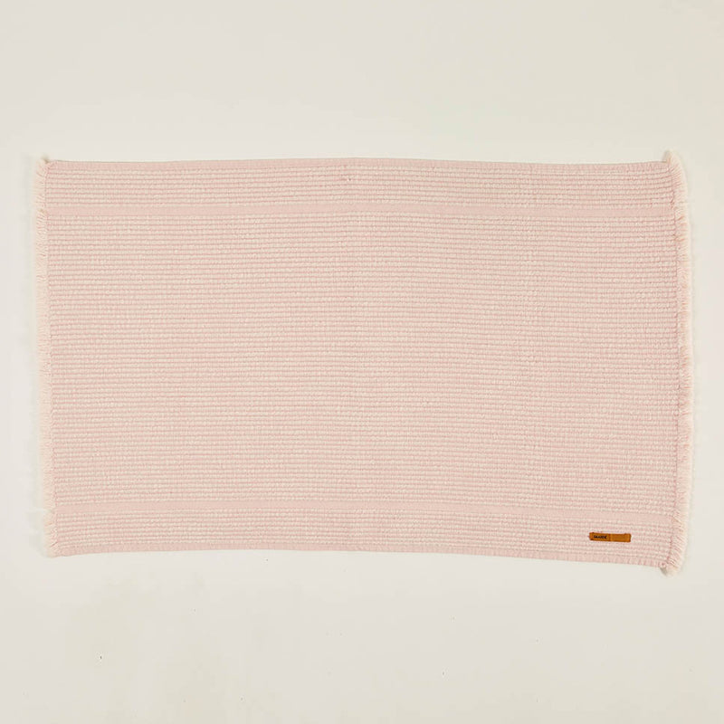 Bath Mat Vintage Wash - Dusty pink