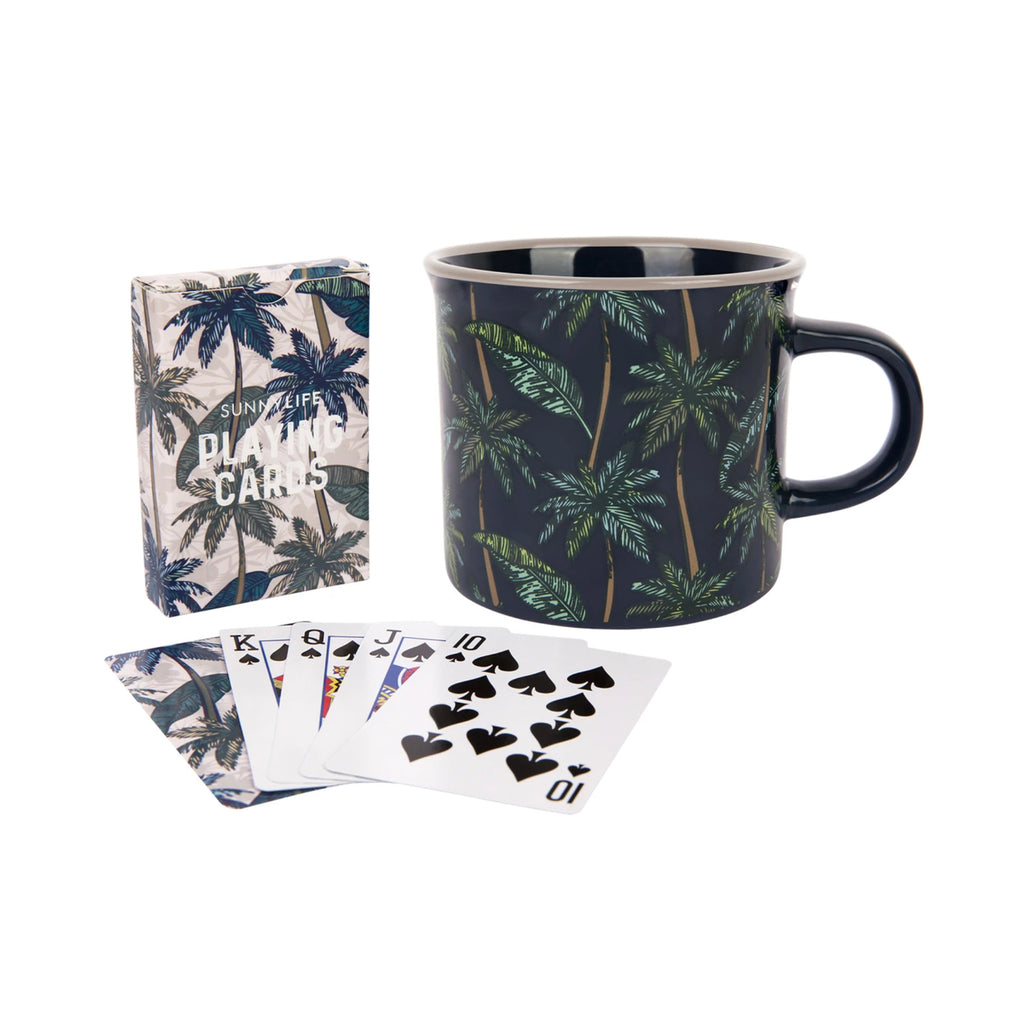 Mug Set Cards Palm S
