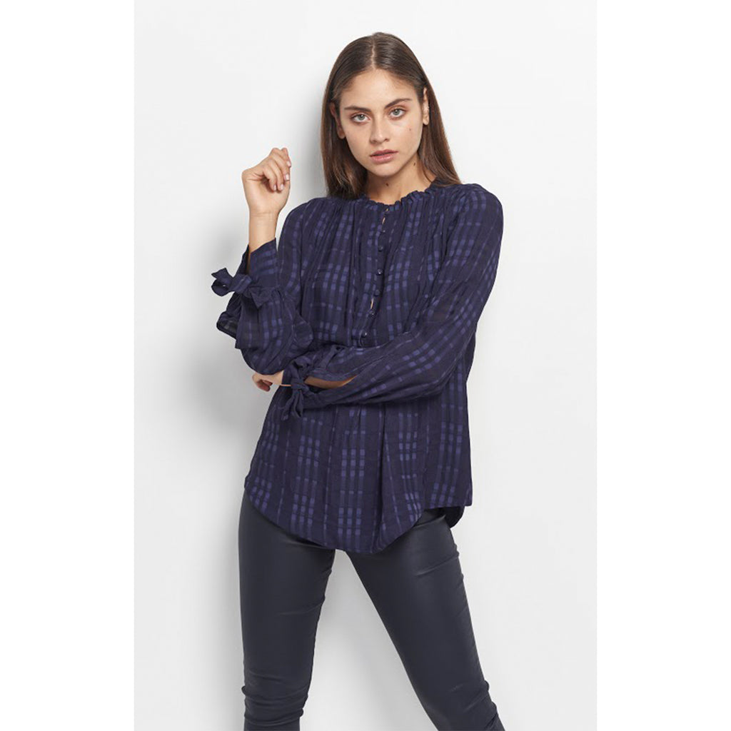 Hailee Blouse Navy