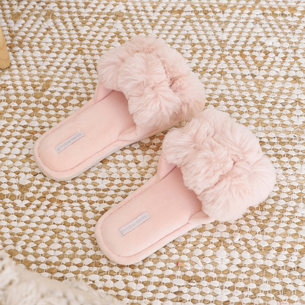 Slippers Luxe Pom Pom - Pink