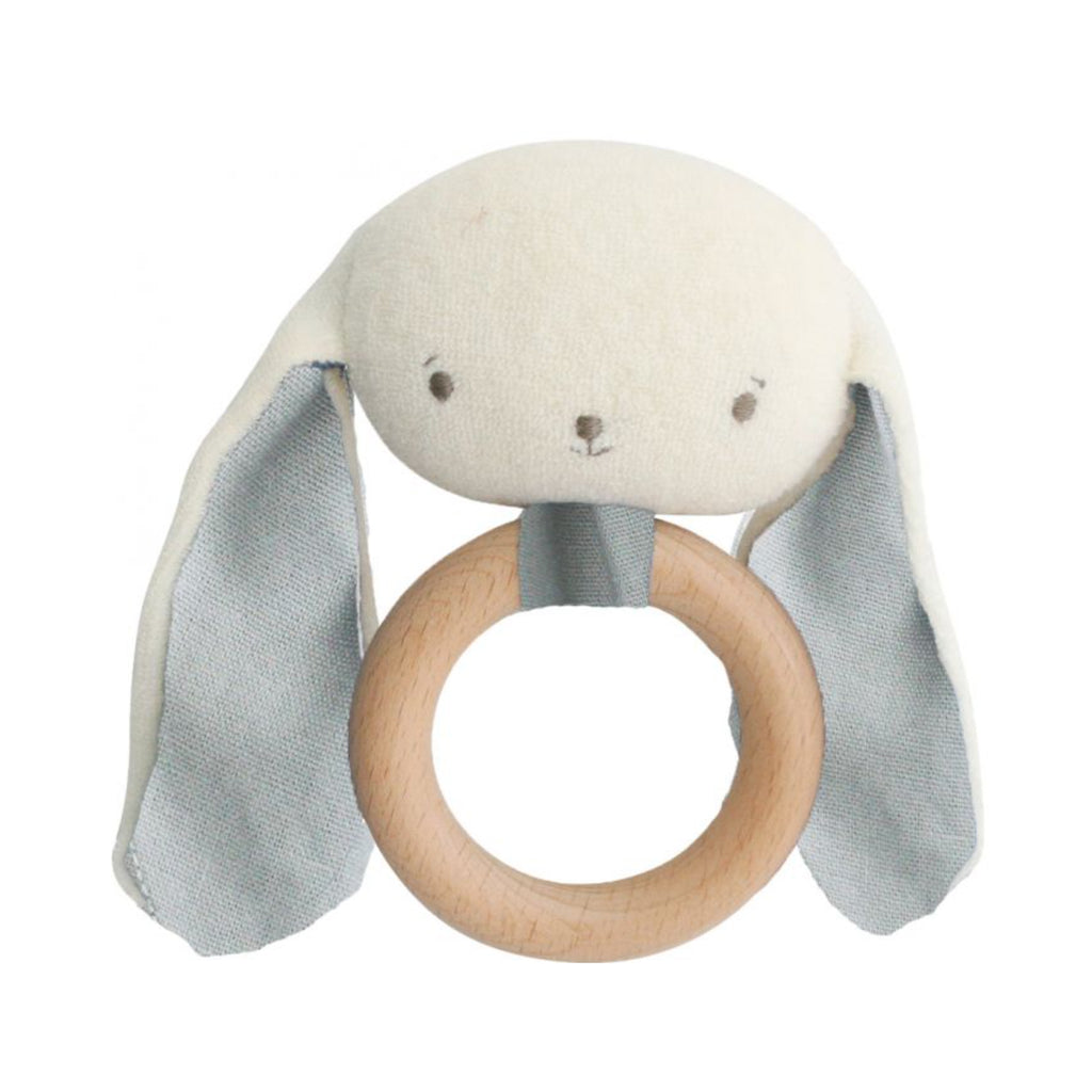 Baby Bunny Teether Rattle - Grey
