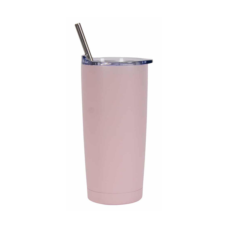 Smoothie Cup Stainless Steel 500ml - Pale Pink
